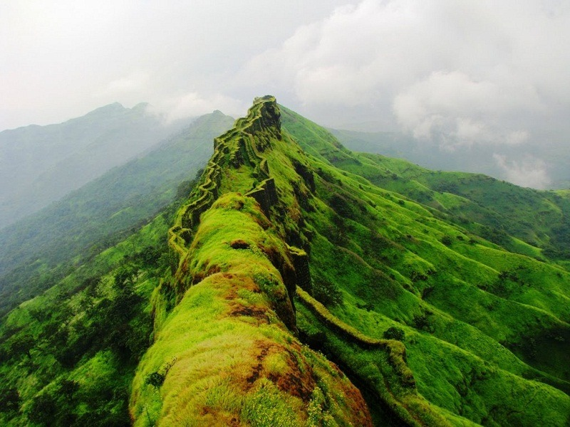 Image result for complete view of Rajgad fort hd wallpaper